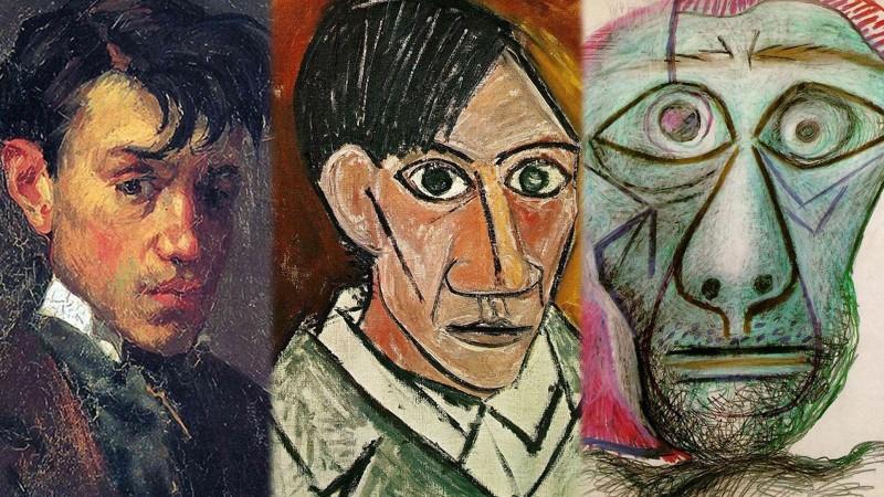 Пикассогийн өөрийн хөрөг зургуудын хувьсал