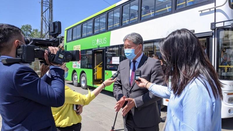 Давхар цахилгаан автобус нийтийн тээврийн үйлчилгээнд явж эхэллээ